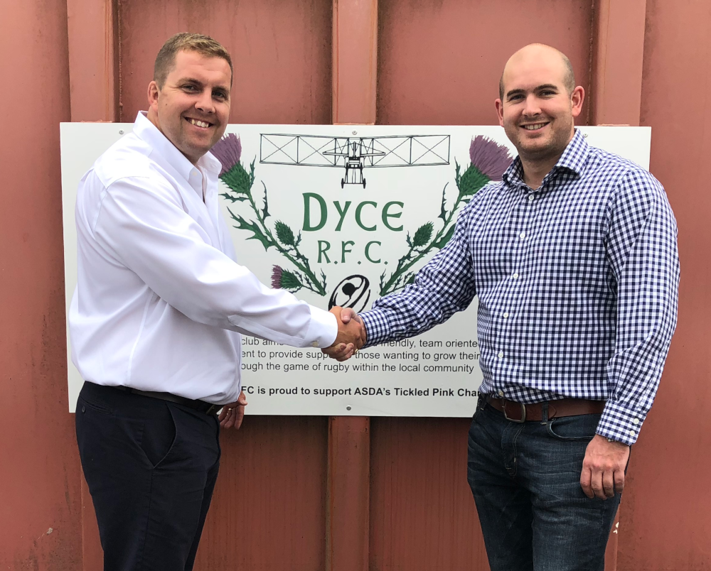 Dyce RFC has boosted its sponsorship income by more than 400% in a single year after partnering with SNAP Sponsorship