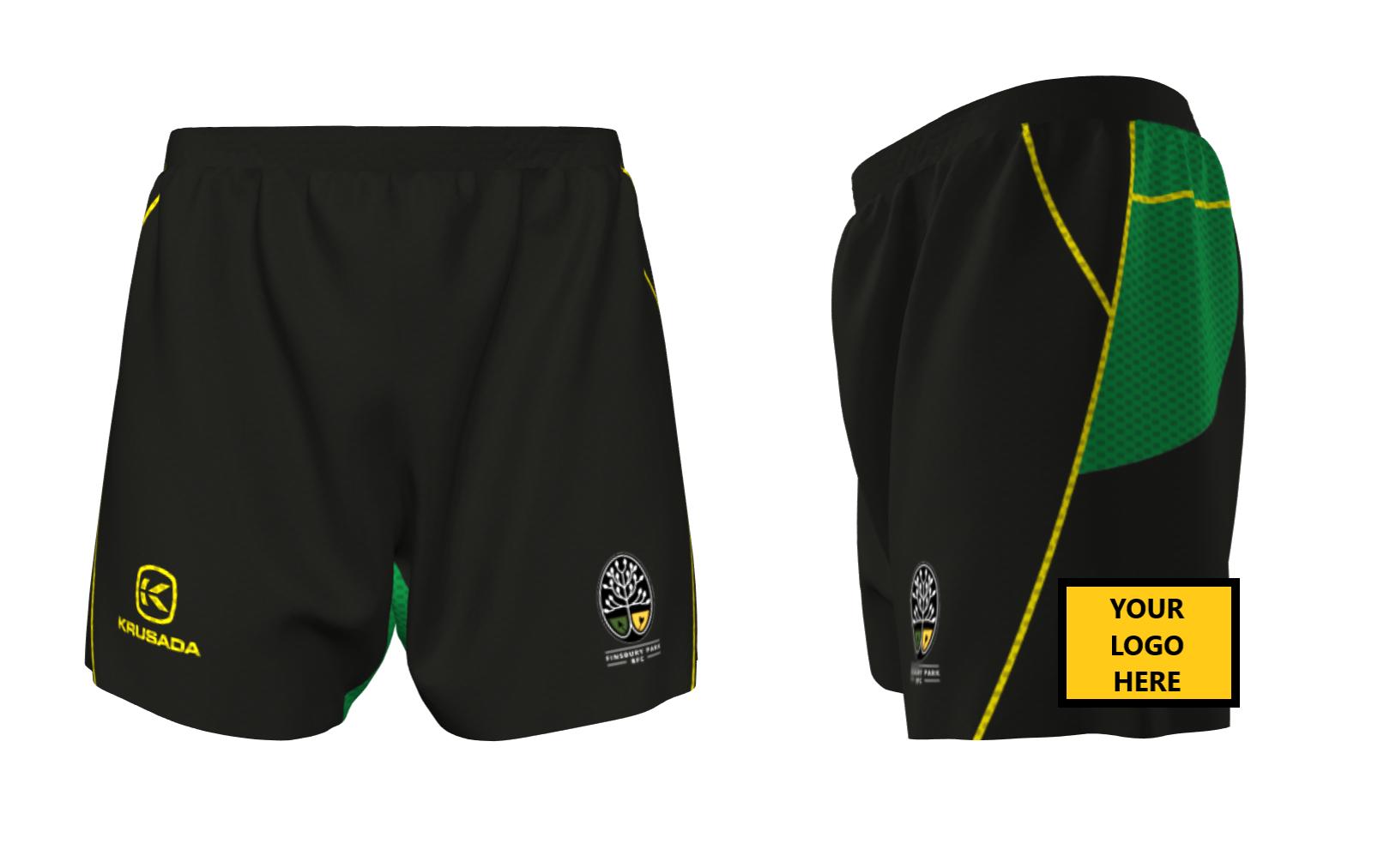 Playing shorts sponsor
