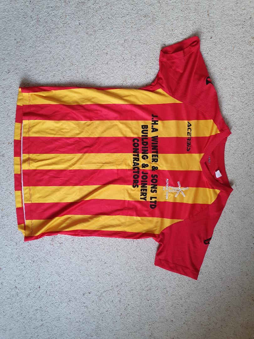 First XI Strips: Front of shirts & all associated team uniform.